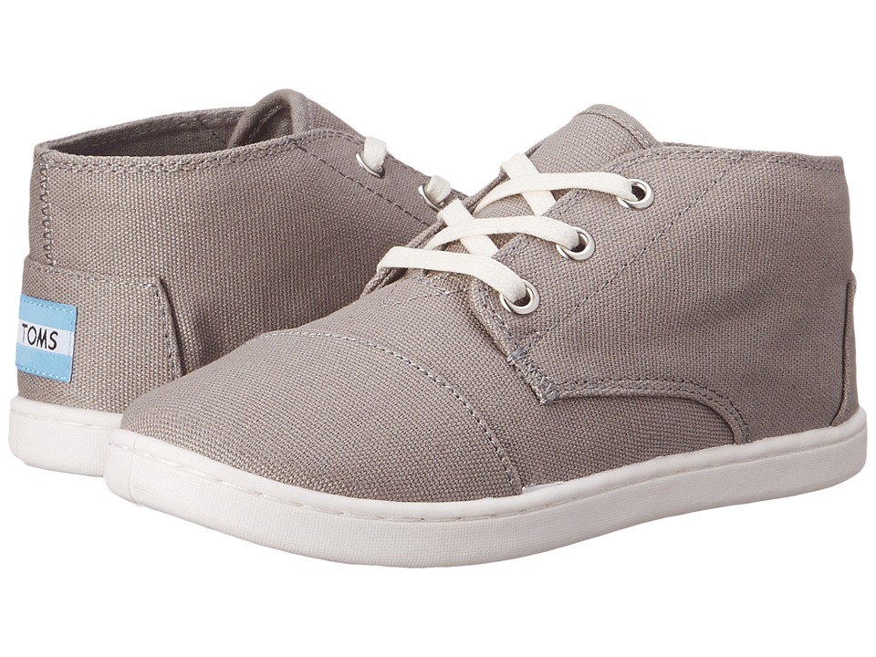 TOMS Kids - Paseo Mid (Little Kid/Big Kid) (Ash Canvas) Kids Shoes
