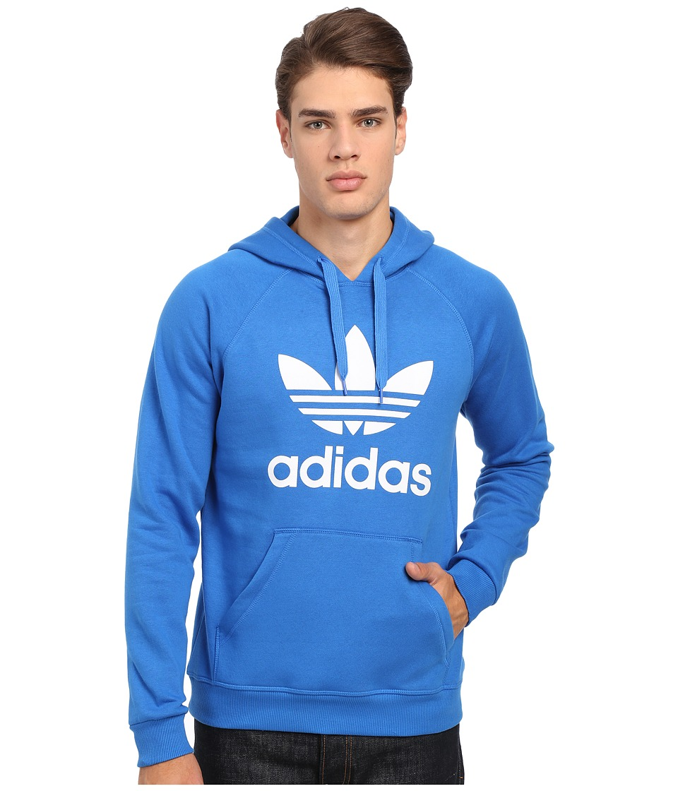 adidas Originals - Originals Trefoil Hoodie (Bluebird/White) Men's Sweatshirt