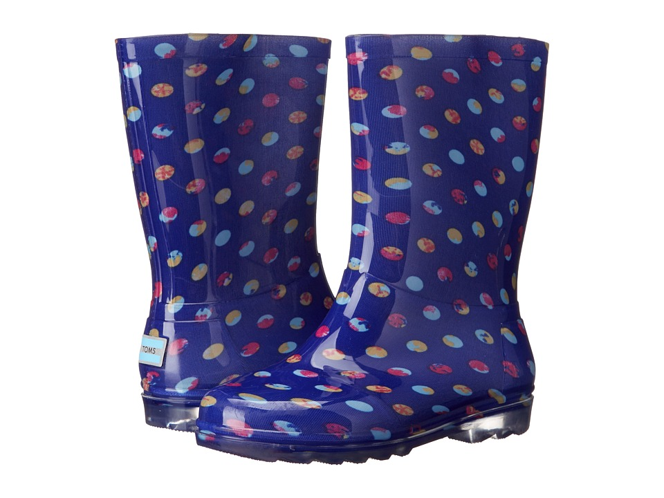 TOMS Kids - Rain Boot (Little Kid/Big Kid) (Blue Dots PVC) Kids Shoes