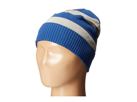 Pumpkin Patch Kids - Stripe Beanie (Infant/Toddler/Little Kids/Big Kids) (Olympian Blue) Knit Hats