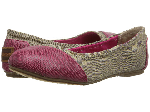 TOMS Kids - Ballet Flat (Little Kid/Big Kid) (Pink/Natural Metallic Herringbone) Girls Shoes