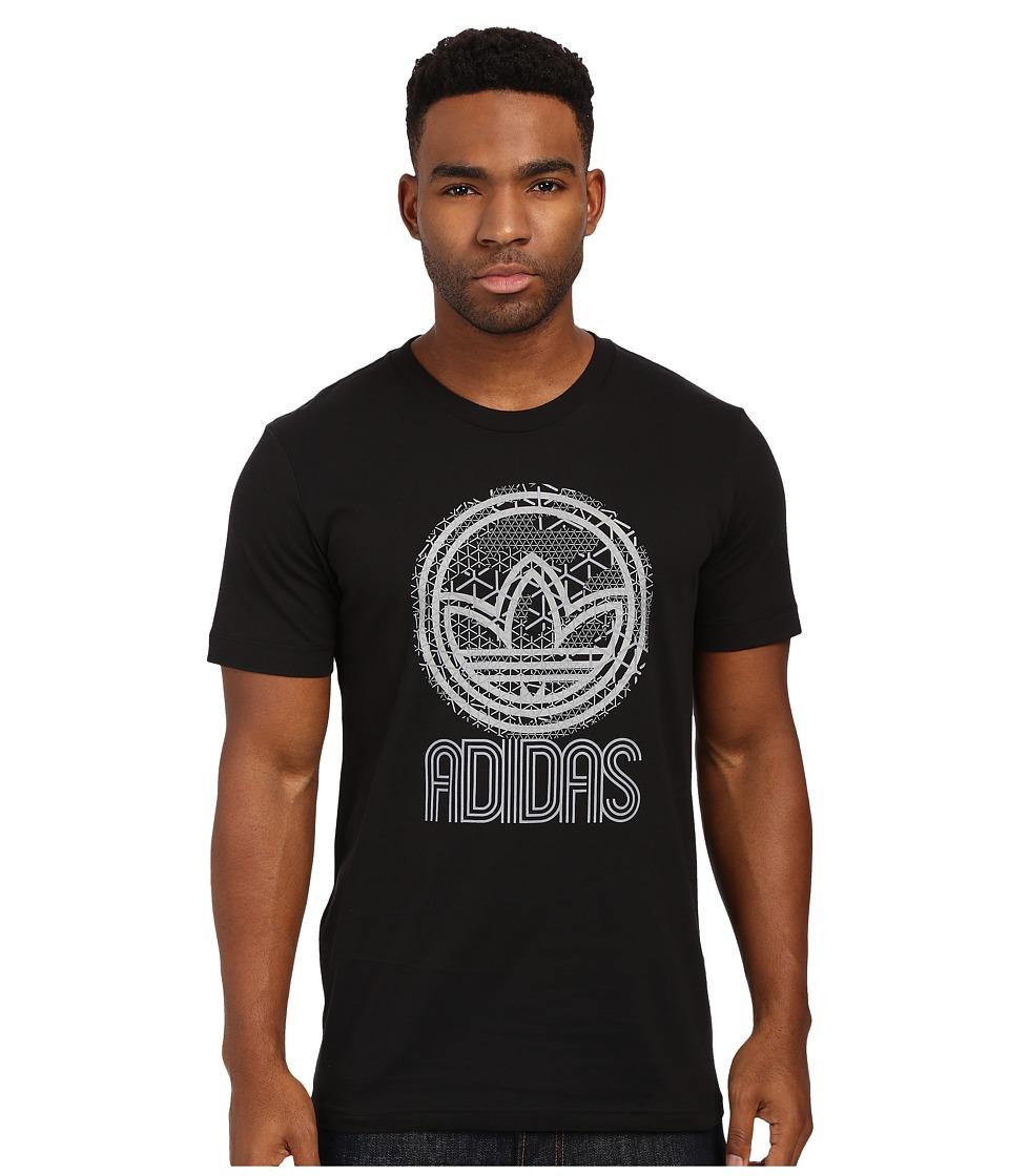 adidas Originals - Circle Trefoil Graphic Tee (Black/Talc) Men