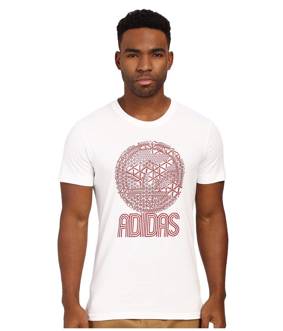 adidas Originals - Circle Trefoil Graphic Tee (White/Scarlet) Men's T Shirt