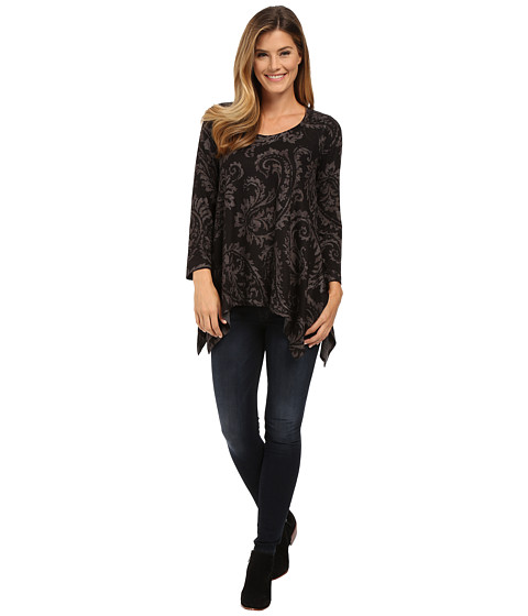 Nally & Millie - Charcoal Paisley Sharkbite Tunic (Multi) Women