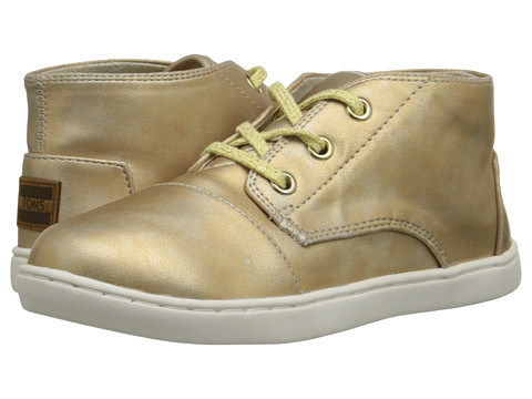 TOMS Kids - Paseo Mid (Little Kid/Big Kid) (Gold Metallic) Kids Shoes