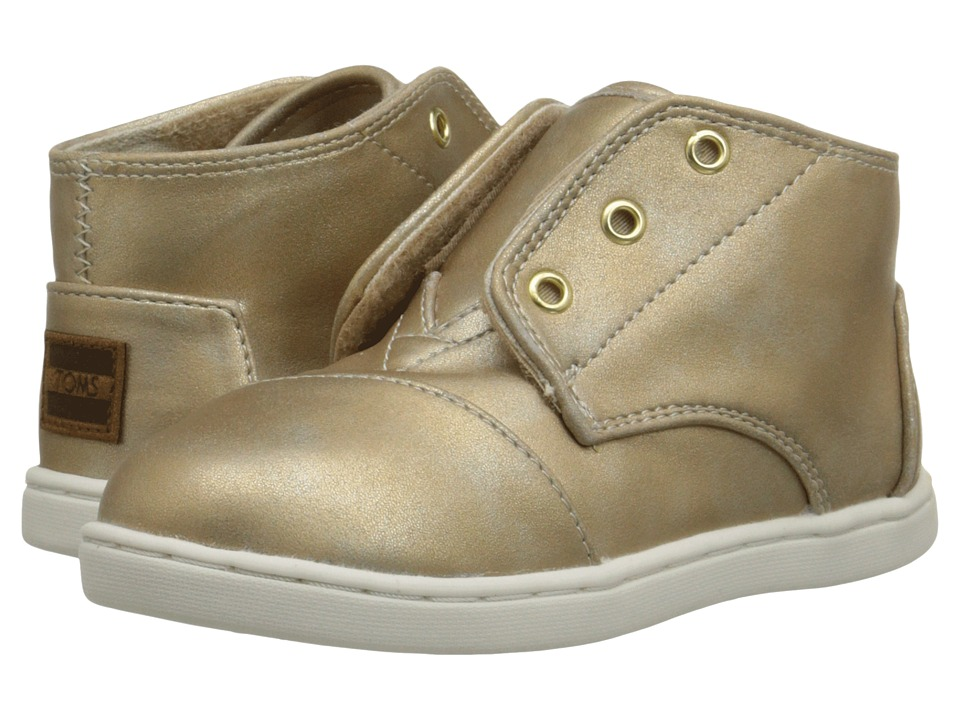 TOMS Kids - Paseo Mid (Infant/Toddler/Little Kid) (Gold Metallic) Kids Shoes