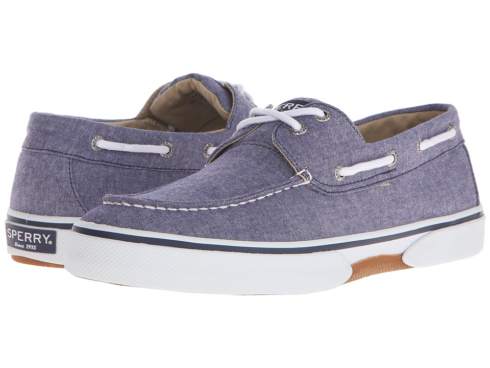 Sperry - Halyard 2-Eye Chambray (Navy) Men's Shoes