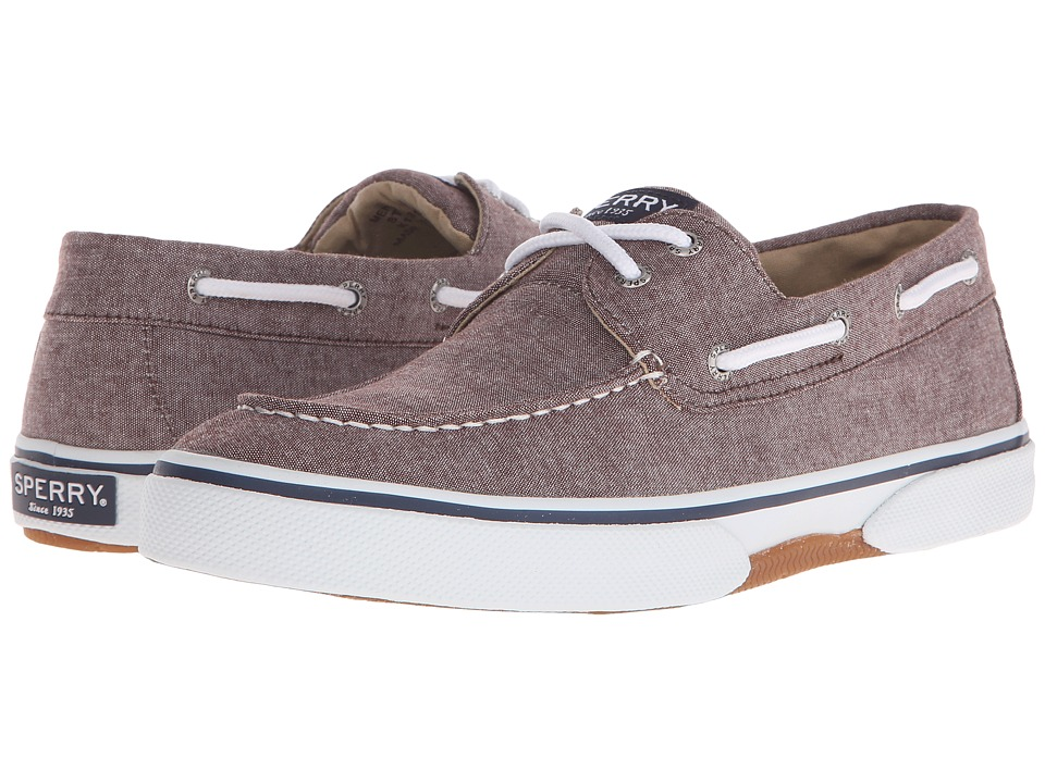 Sperry Top-Sider Halyard 2-Eye Chambray (Chocolate) Men