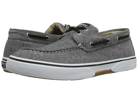 Sperry Top-Sider - Halyard 2-Eye Chambray (Black) Men's Shoes
