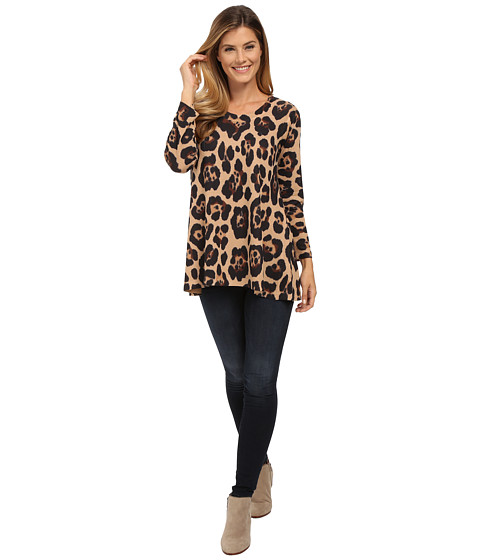 Nally & Millie - Animal Print Tunic (Multi) Women's T Shirt