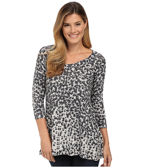 Nally & Millie - Animal Printed Ribbed Tunic (Multi) Women's T Shirt