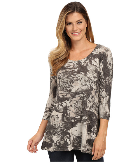 Nally & Millie - Abstract Floral Ribbed Tunic (Multi) Women