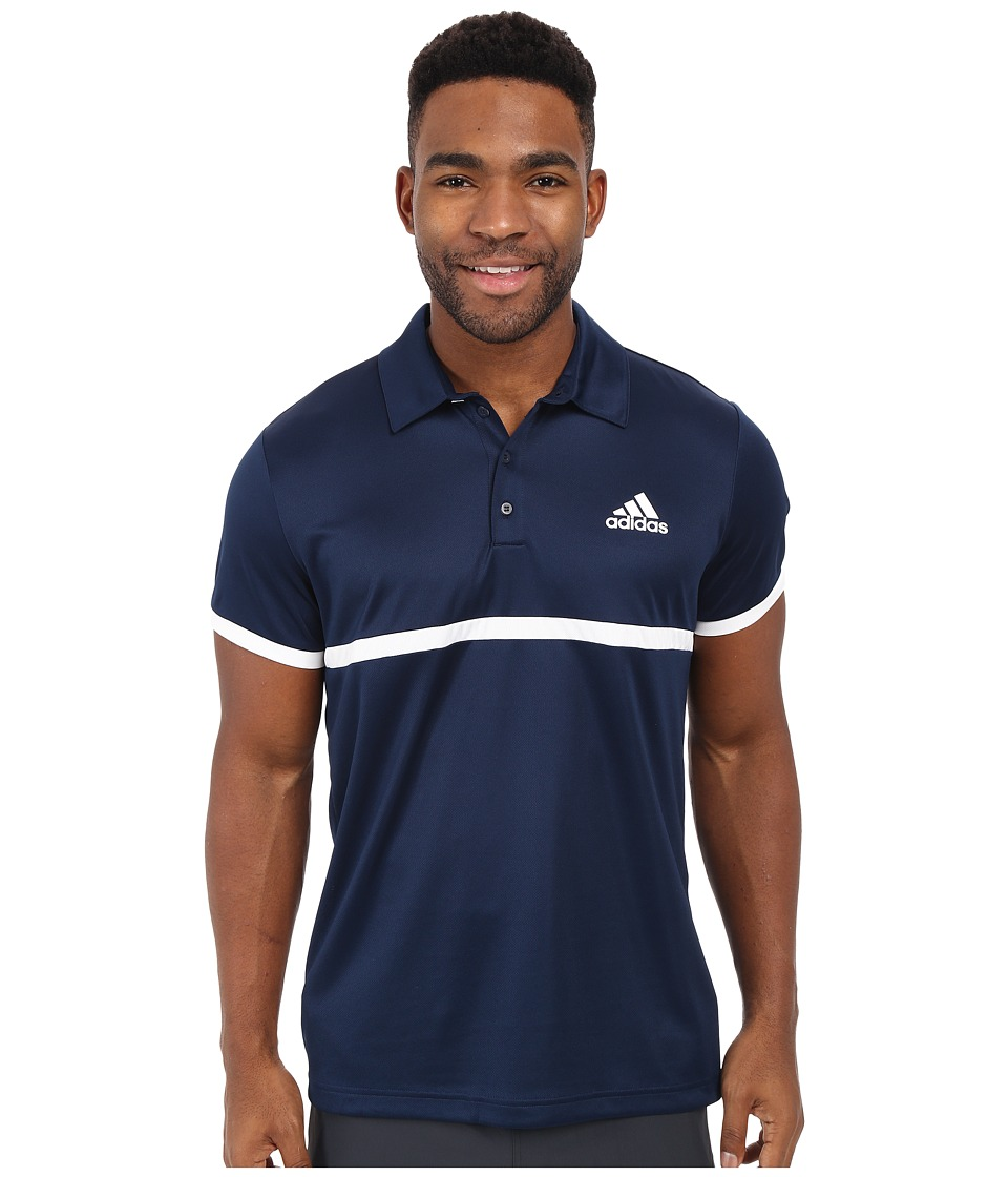 adidas - Court Polo (Collegiate Navy/White) Men's Clothing