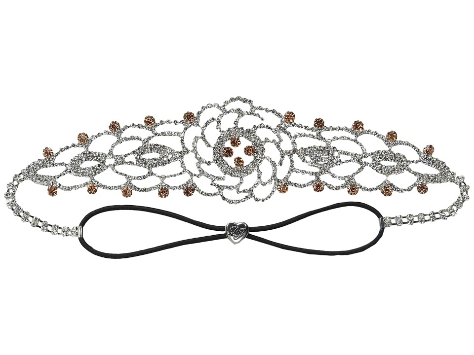 Betsey Johnson - Ballerina Rose Crystal Headband (Crystal) Headband