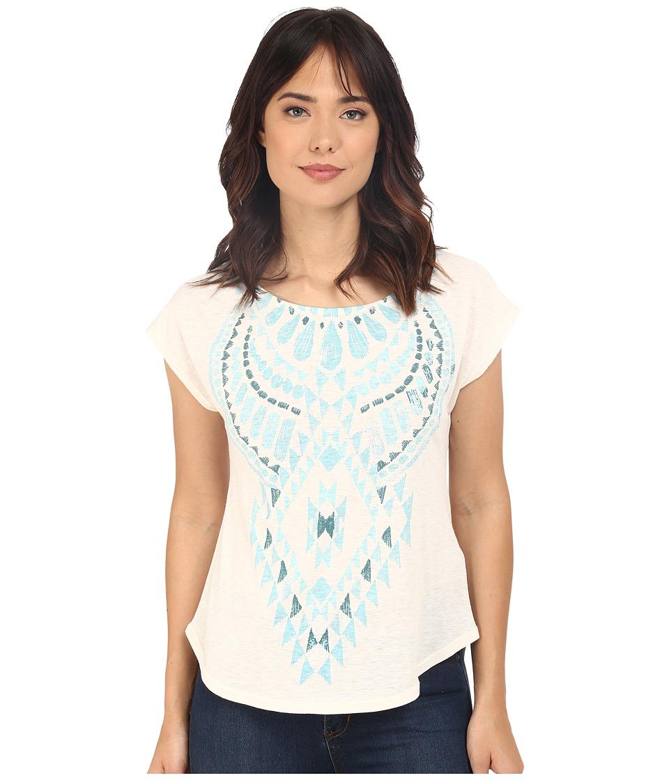 Roper - 0228 Slub Jersey Slouchy Tee (White) Women's T Shirt