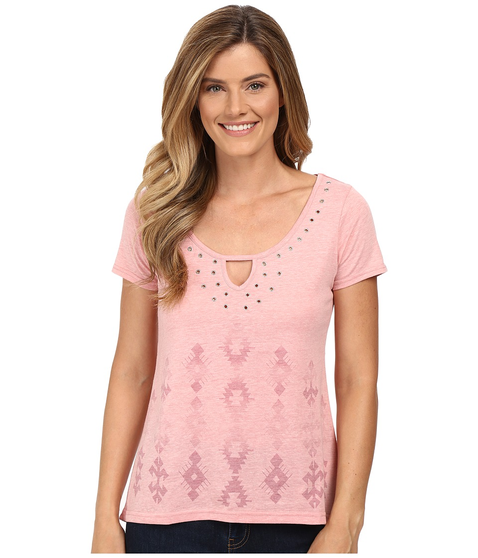 Roper 0227 Heather Jersey Hi-Lo Tee (Pink) Women