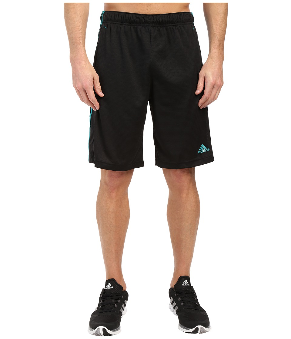 adidas - Essential 3S Shorts (Black/EQT Blue) Men's Shorts