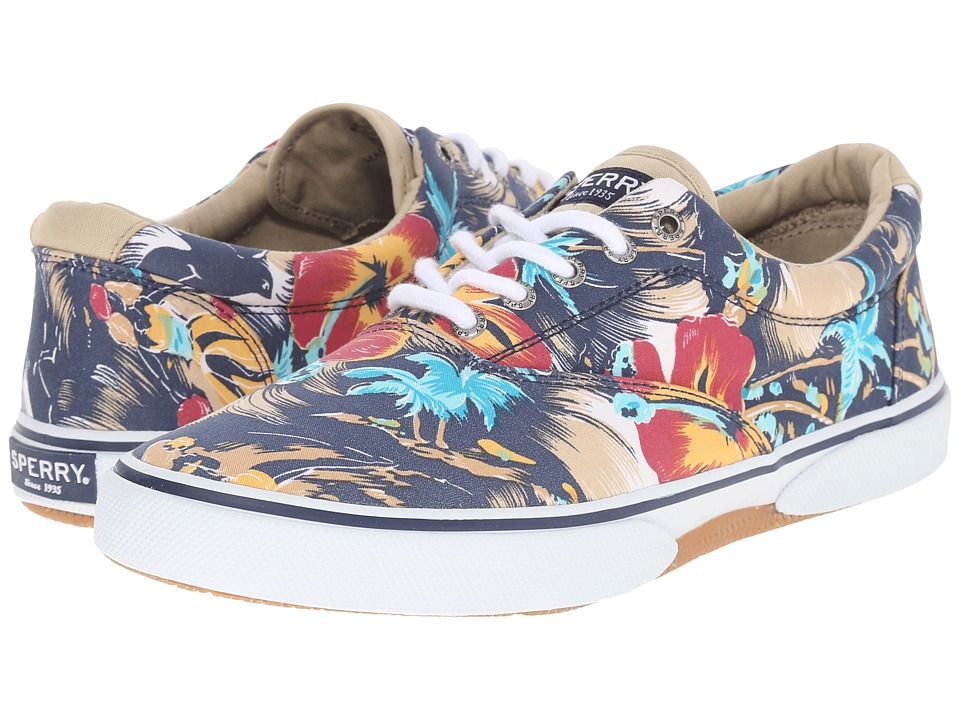 Sperry Top-Sider - Halyard CVO Print (Navy Floral) Men's Shoes