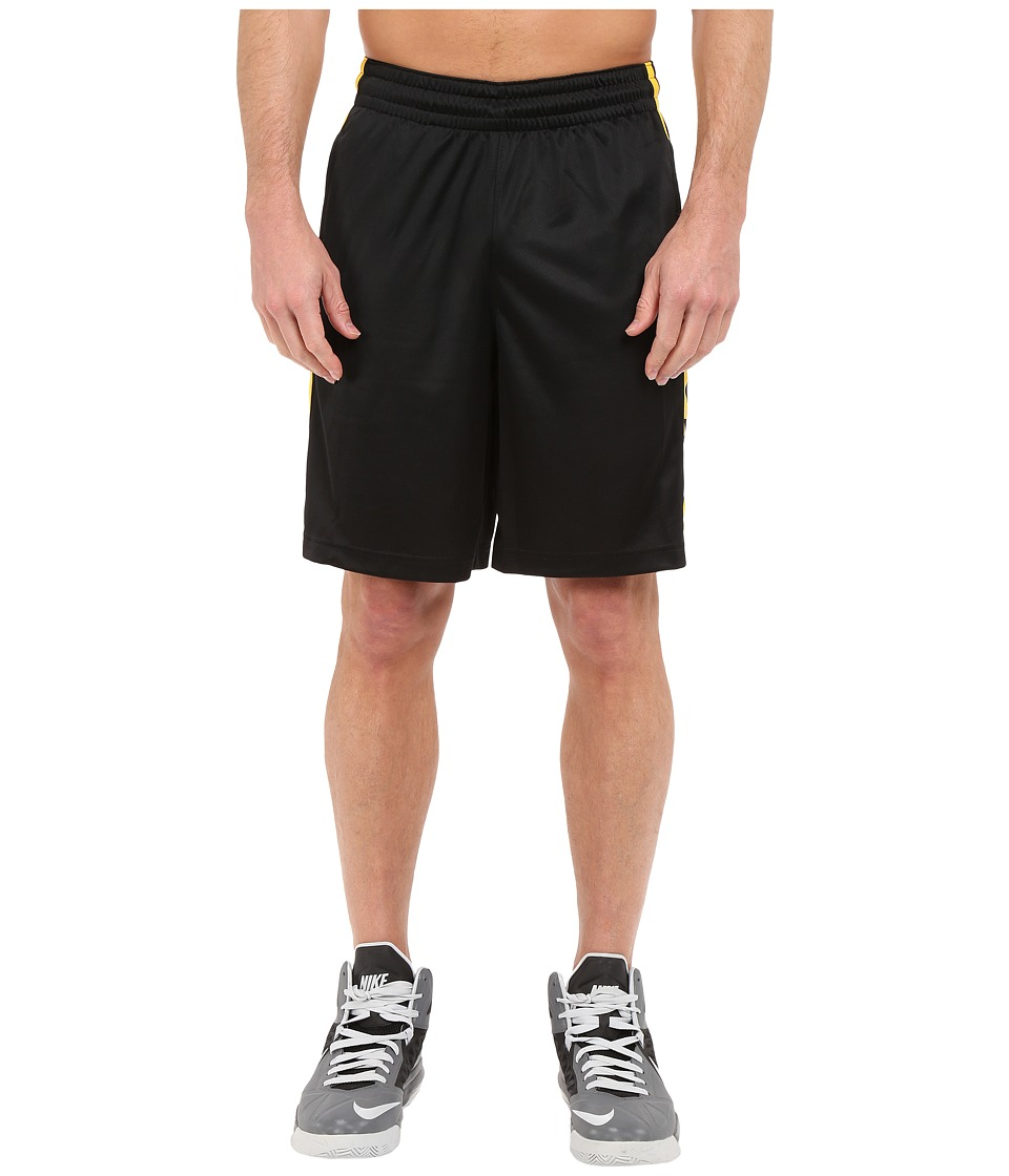 Nike - Elite Stripe Short (Black/Varsity Maize/White/Metallic Silver) Men's Shorts