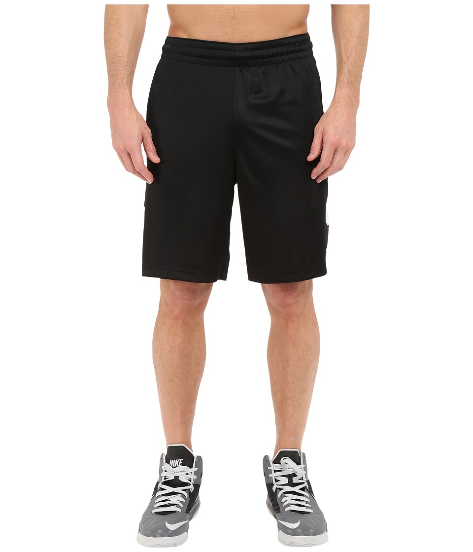 Nike - Elite Stripe Short (Black/White/White/White) Men's Shorts
