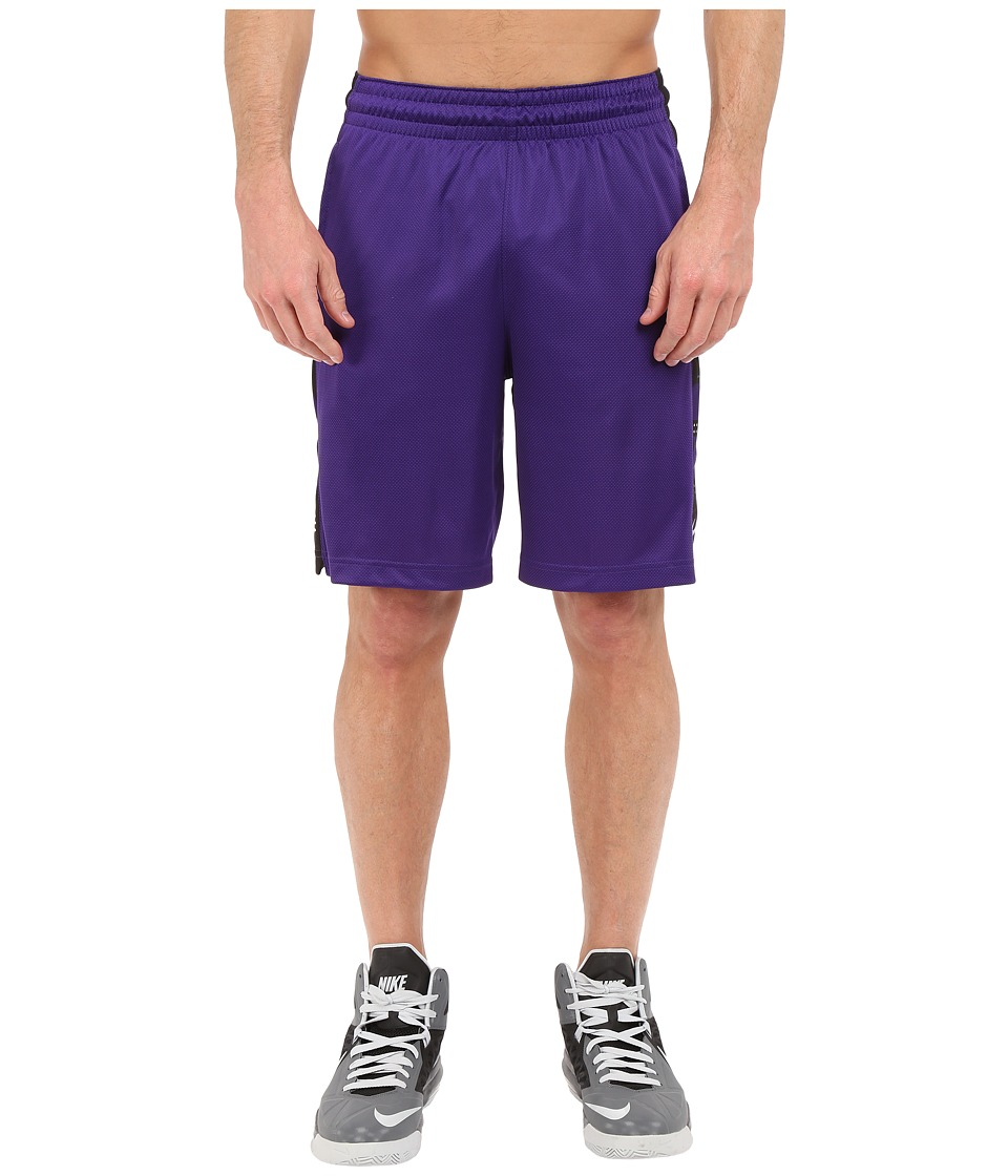 Nike - Elite Stripe Short (Court Purple/Black/White/Metallic Silver) Men's Shorts