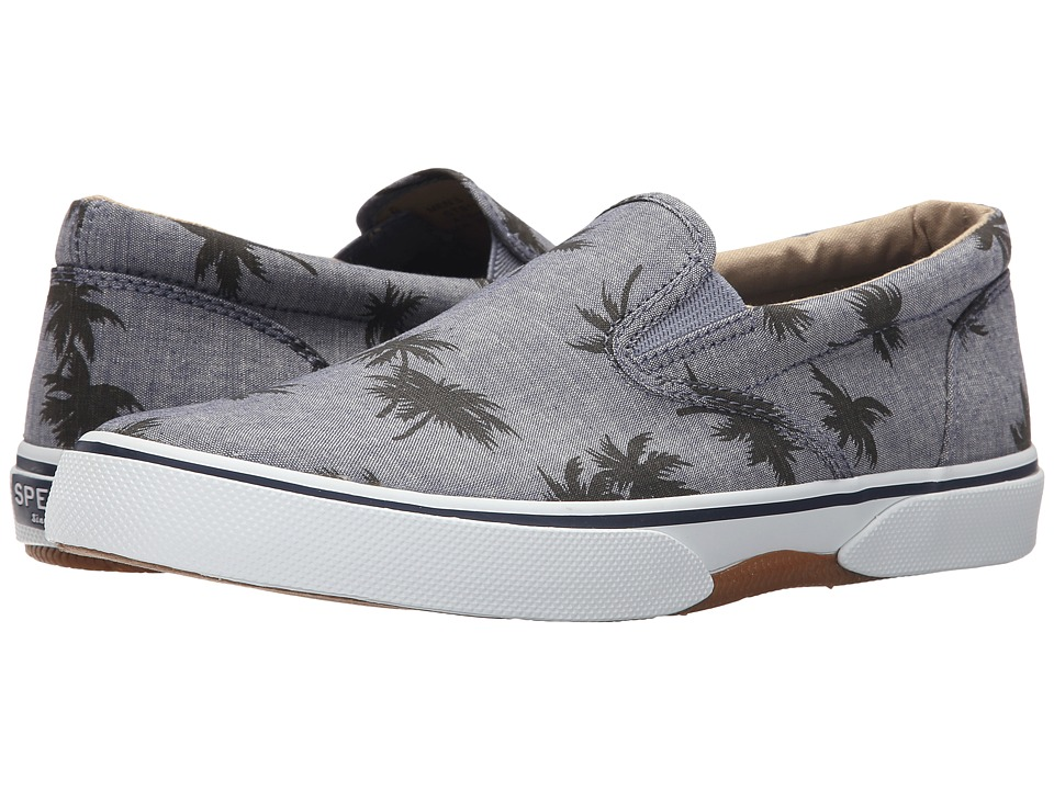 Sperry Top-Sider Halyard Twin Gore Slip-On (Grey Palm) Men