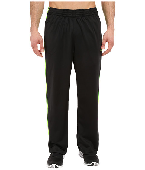 adidas - 3-Stripes Pant (Black/Solar Green/Solar Green) Men's Workout