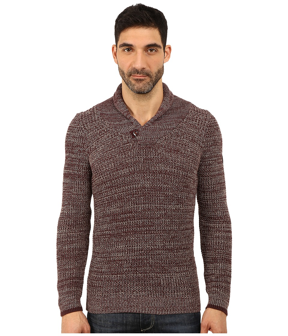 G-Star - Avihu Shawl Knit (Dark Fig/Mercury) Men's Clothing