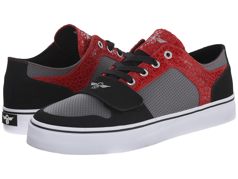 Creative Recreation - Cesario Lo XVI (Black/Grey/Red 1) Men