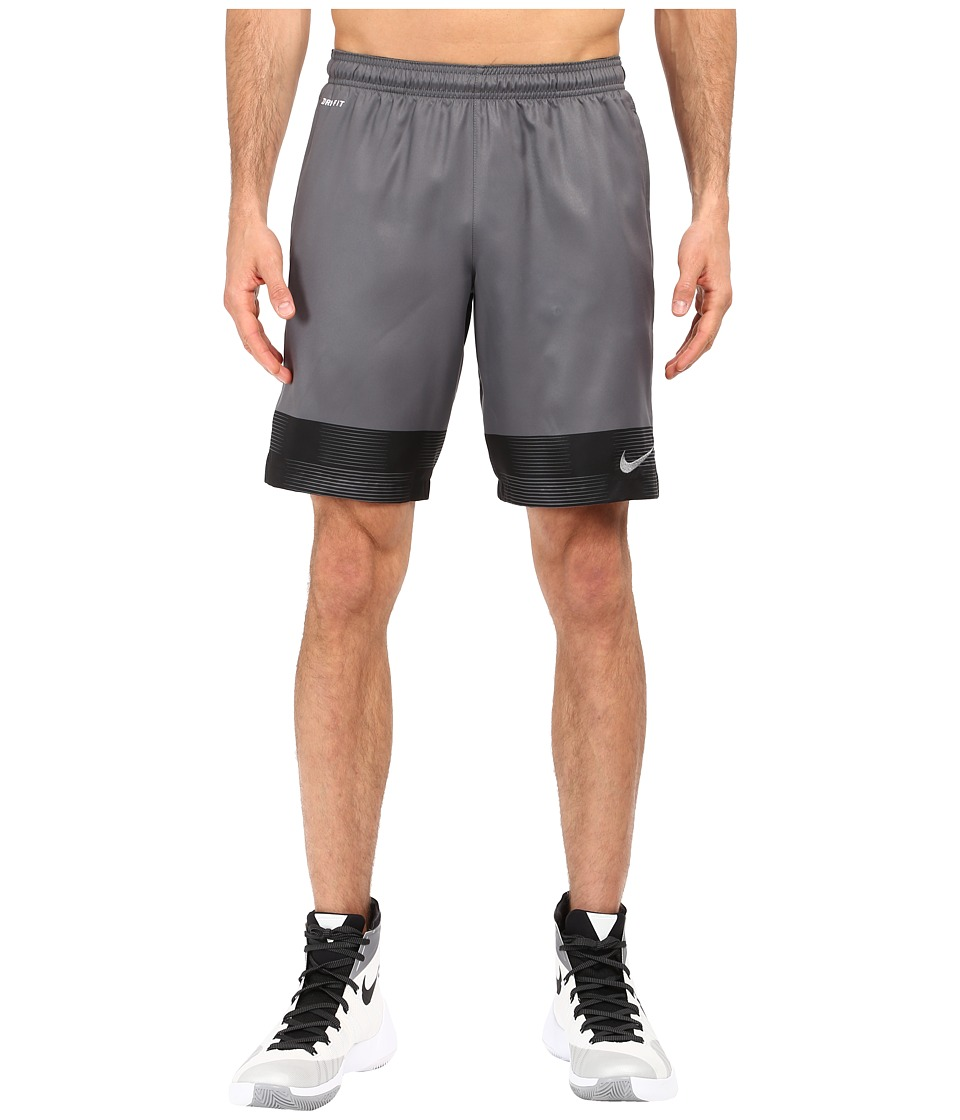 Nike Strike Printed Graphic Woven 2 Soccer Short (Dark Grey/Black/Dark Grey) Men