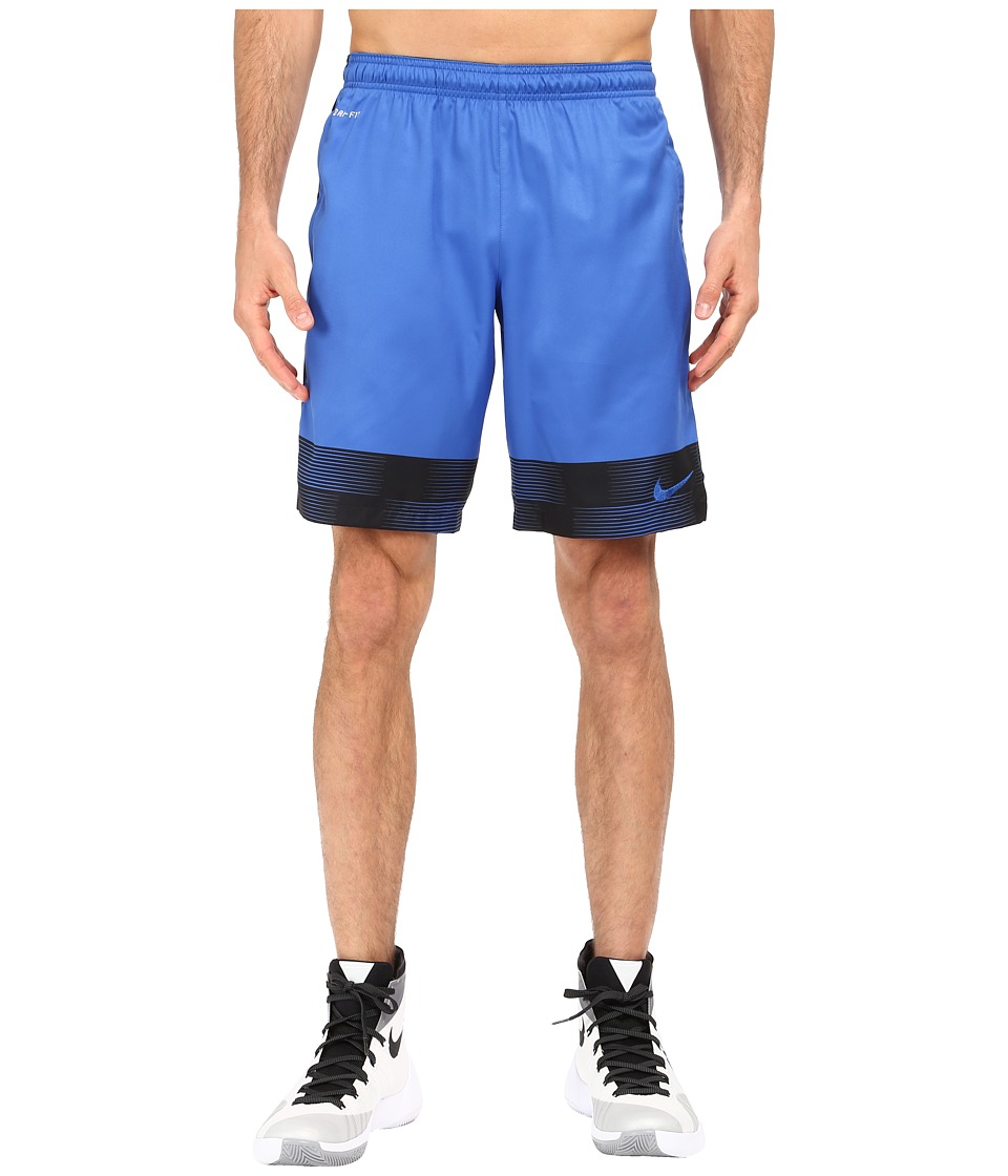 Nike - Strike Printed Graphic Woven 2 Soccer Short (Game Royal/Black/Game Royal) Men's Shorts