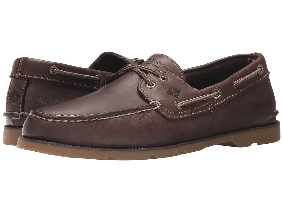 Sperry - Leeward 2-Eye Cross Lace (Dark Brown) Men's Shoes