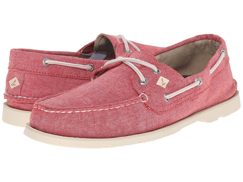 Sperry Top-Sider Leeward 2-Eye Cross Lace Chambray (Red Floral) Men