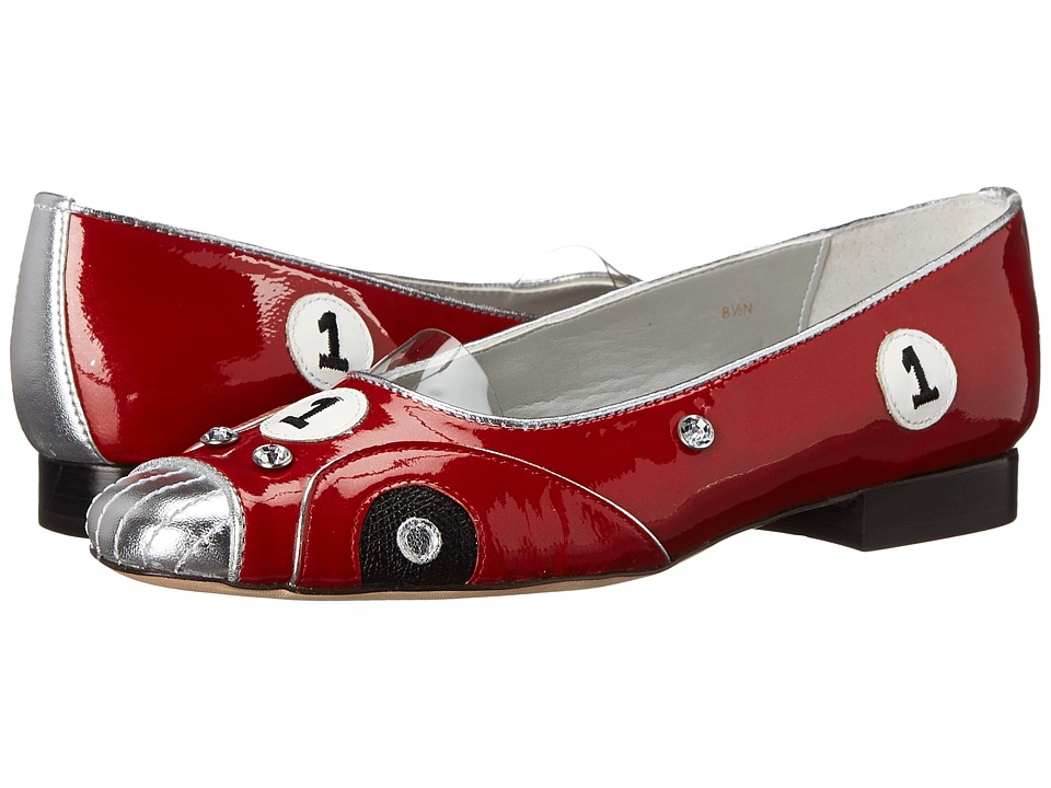 Vaneli - Floren (Red Patent/Silver Metallic/Black Printed Leather) Women's Shoes