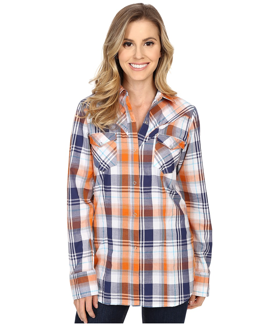 Roper - 0189 Relic Plaid (Blue) Women's Long Sleeve Button Up