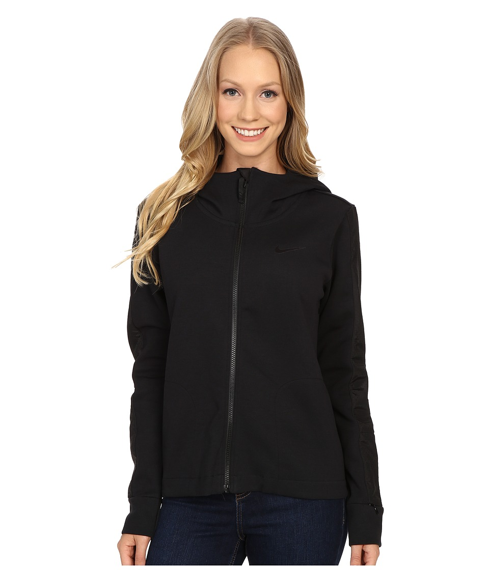 Nike - Advance 15 Fleece Cape (Black/Black/Black/Black) Women's Coat