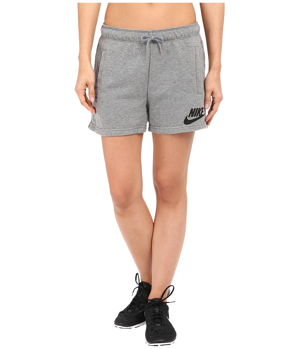 Nike - Rally Logo Short (Carbon Heather/Cool Grey/Black) Women's Shorts
