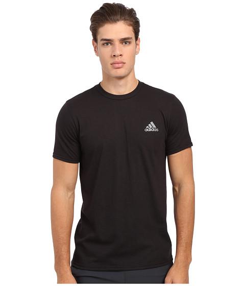 adidas - Go-To Performance Short Sleeve Crew Tee (Black/Vista Grey) Men