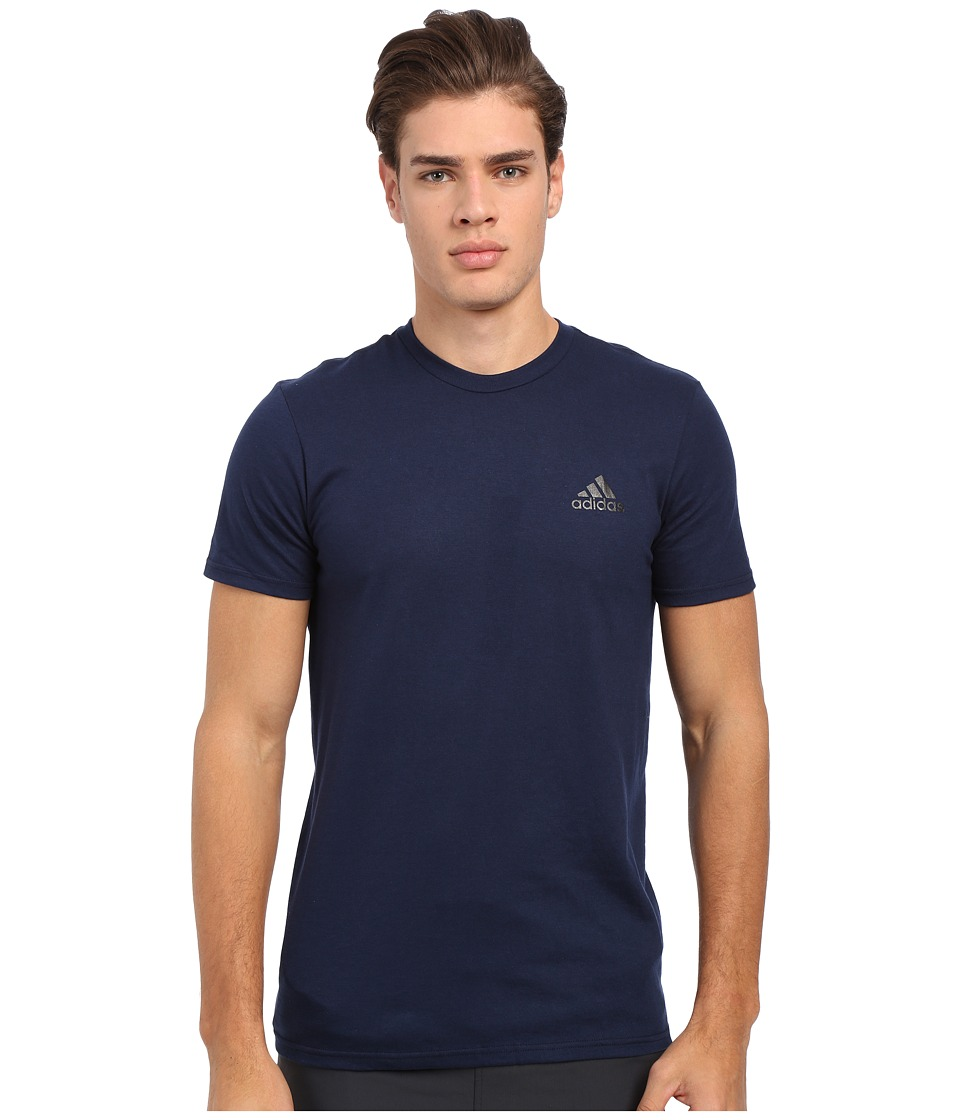 adidas - Go-To Performance Short Sleeve Crew Tee (Collegiate Navy/Black) Men