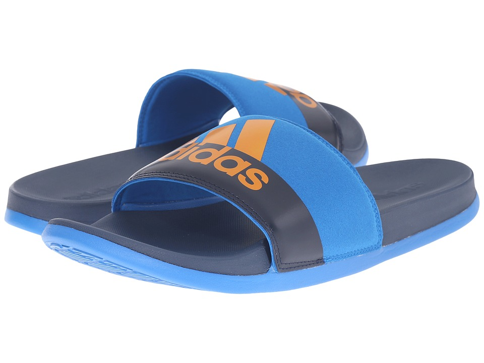 adidas - adilette SC Plus M (Mineral Blue/EQT Orange/Shock Blue) Men's Slide Shoes
