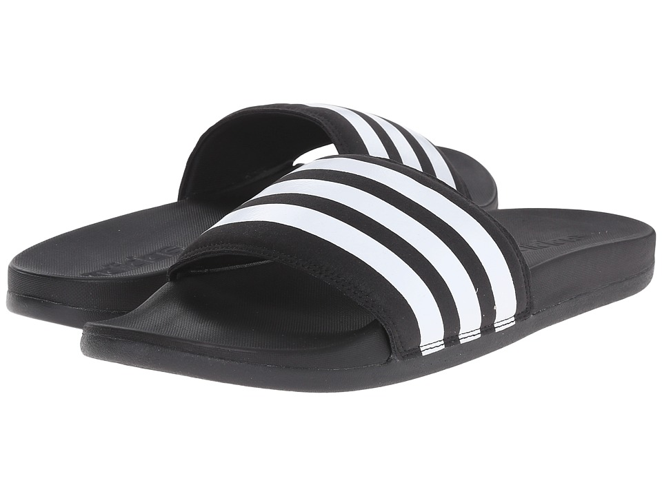 adidas - adilette SC Plus M (Black/White) Men's Slide Shoes