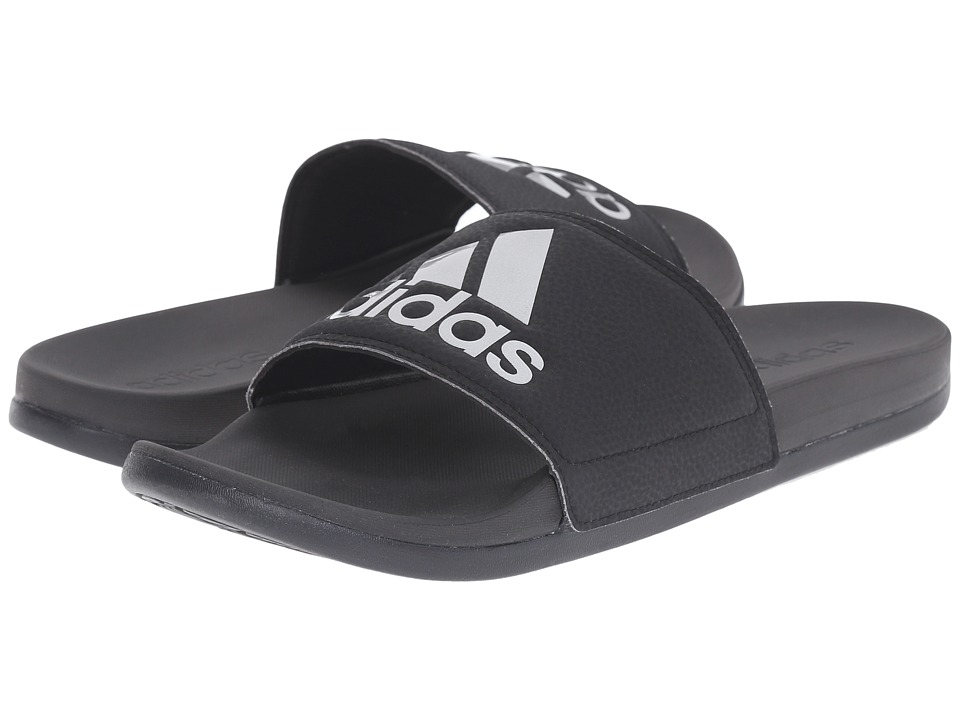 adidas - adilette Silver M (Black/Silver Metallic) Men's Slide Shoes