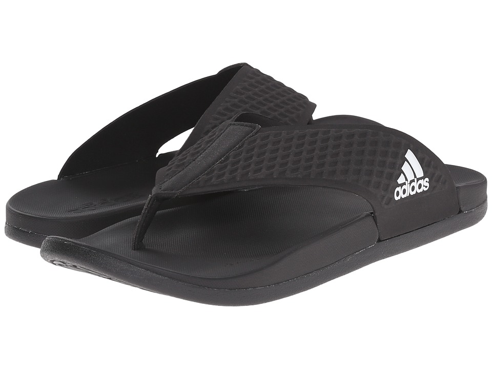 adidas - adilette SC Plus Thong (Black) Men's Shoes