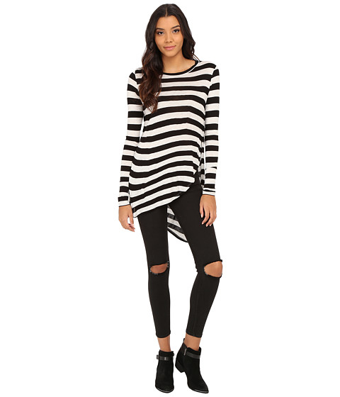 Brigitte Bailey - Adeleta Striped Top (Black) Women's Long Sleeve Pullover
