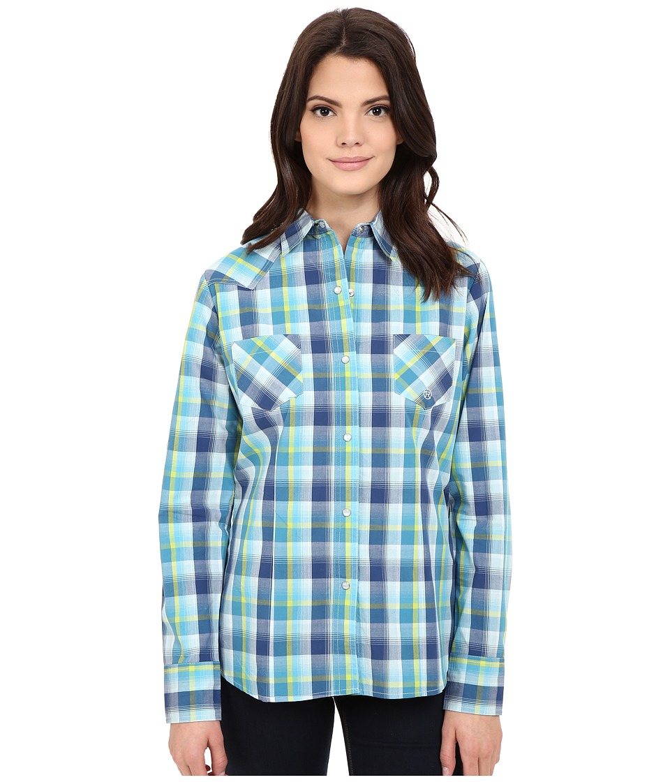 Roper - 0174 George Plaid (Blue) Women's Clothing