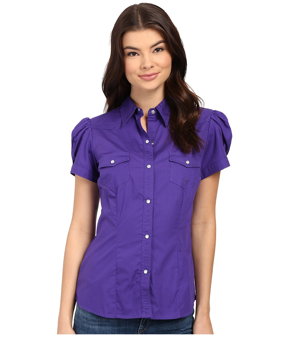 Roper - 0282 Solid Poplin (Purple) Women's Clothing