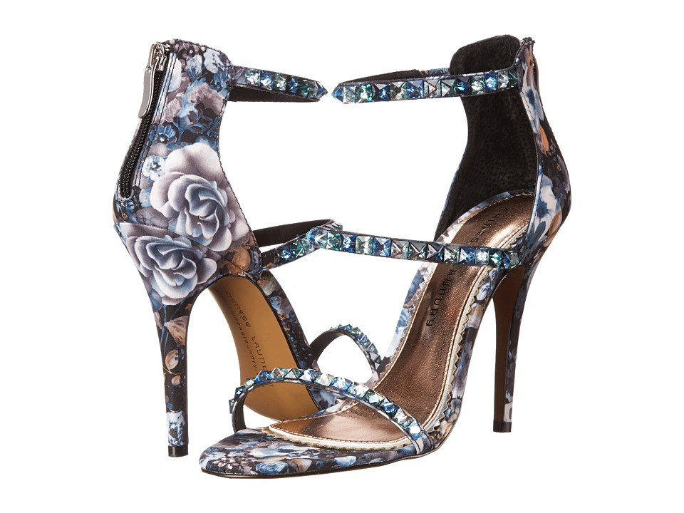 Chinese Laundry - Jitters (Blue Multi Floral Embroidered) High Heels