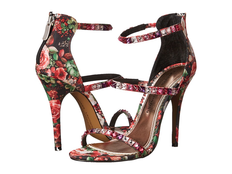 Chinese Laundry Jitters Red Multi Floral Embroidered High Heels