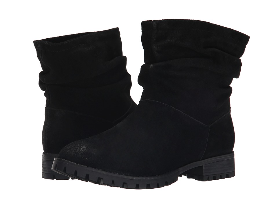 Chinese Laundry Flip Slouch Bootie Black Burnished Pull-on Boots
