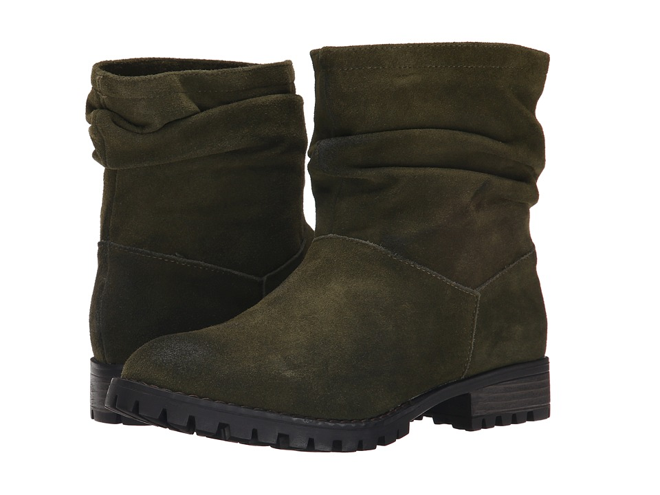 Chinese Laundry Flip Slouch Bootie Olive Burnished Pull-on Boots